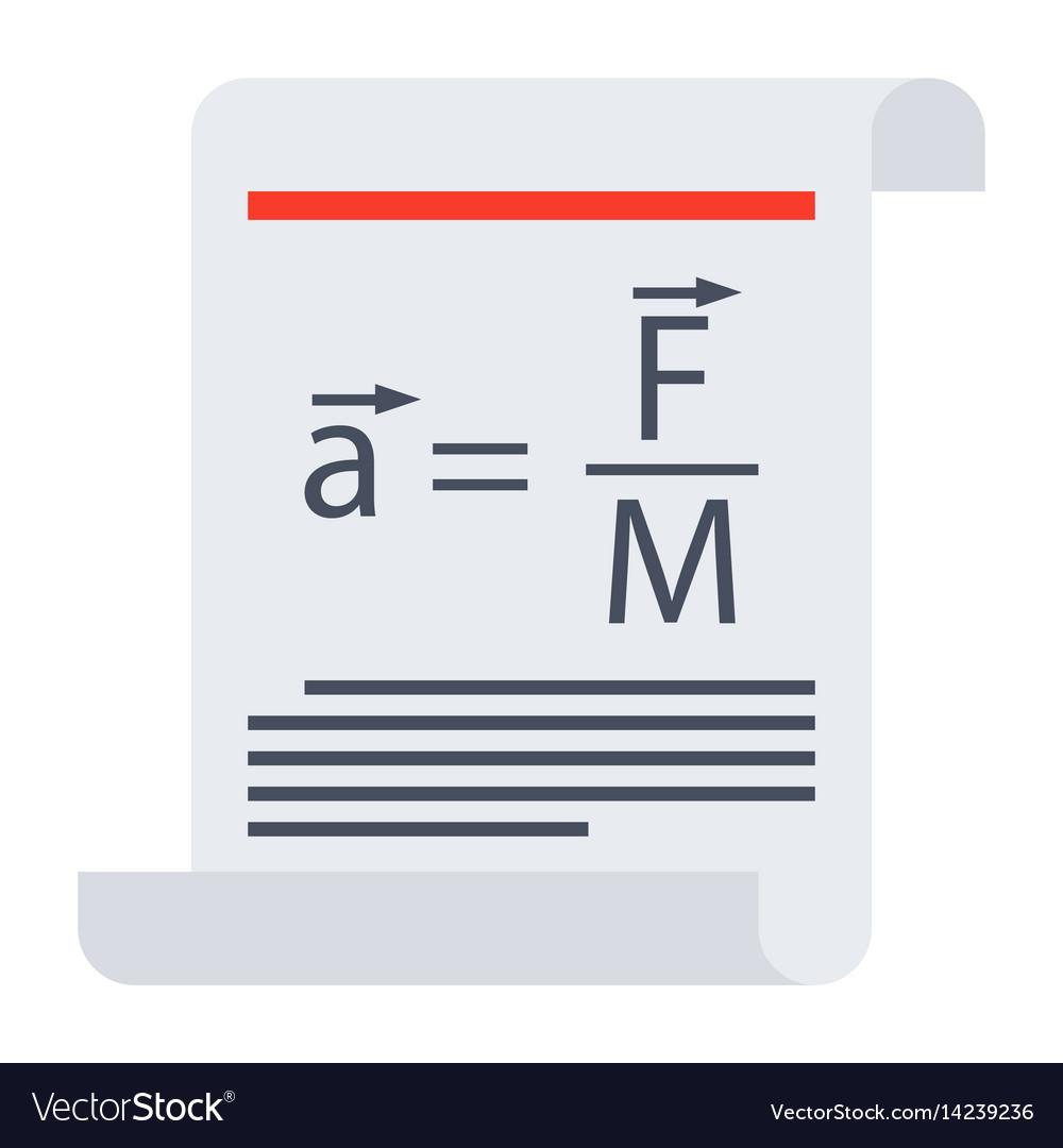 Scientific law icon vector image