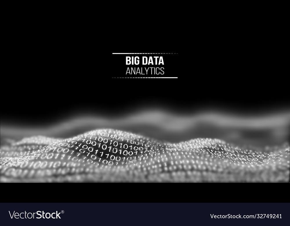 Big data analytics black technology background