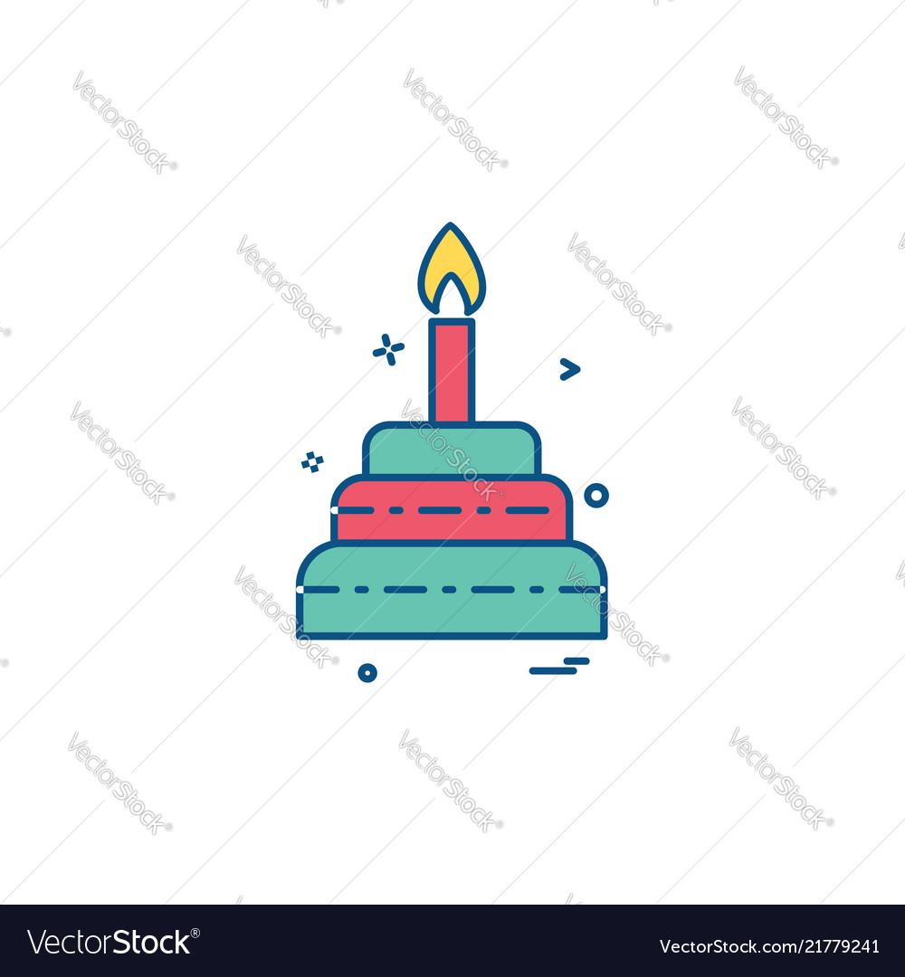 Cake icon deisgn