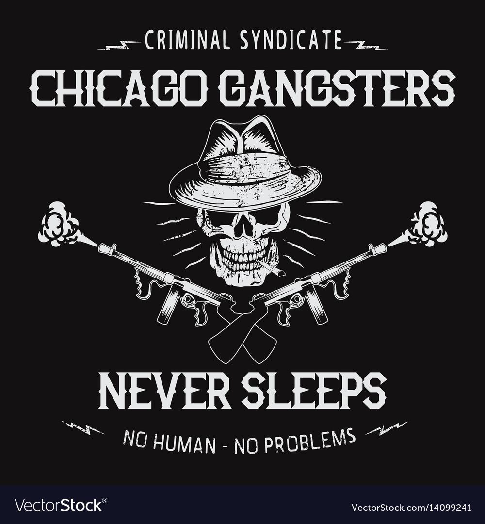Chicago gangsters skull