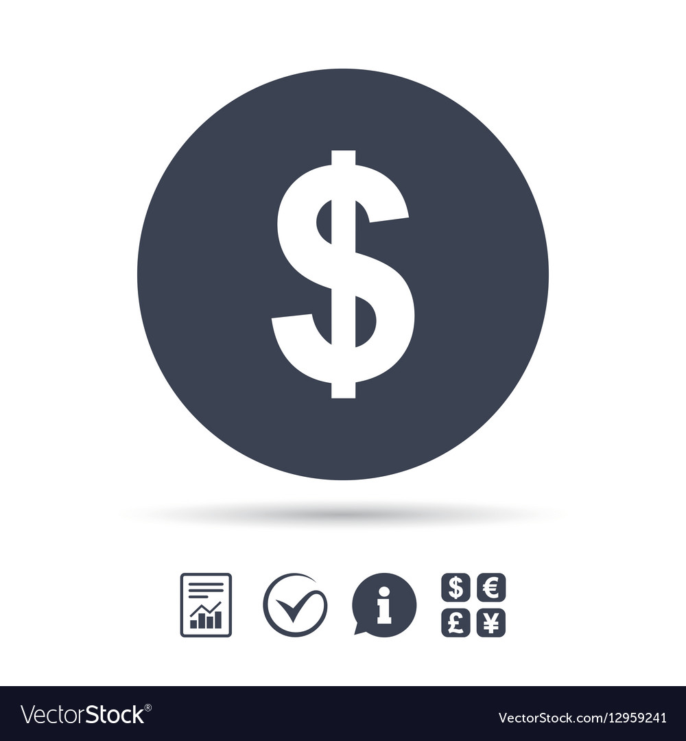Dollar Sign Icon Usd Currency Symbol Vector Image