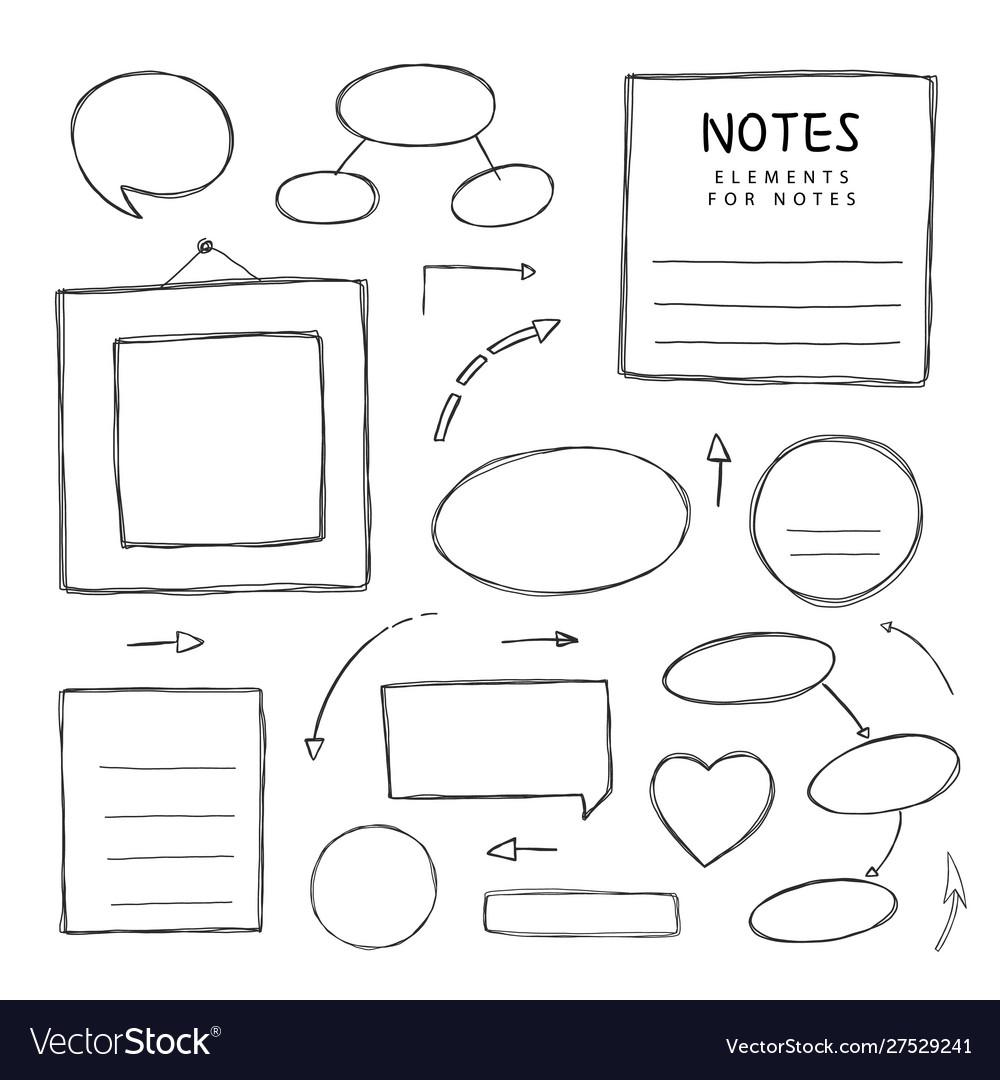 Hand drawn notes