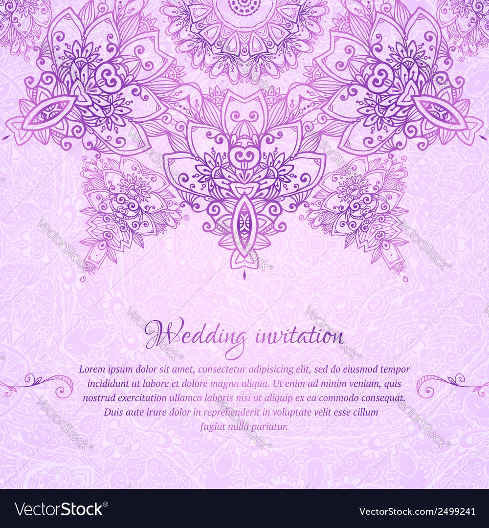 Pink ornate vintage wedding card background