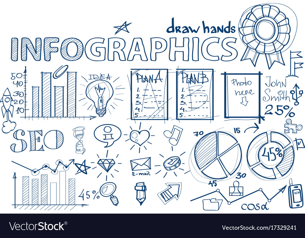 Seo hand draw infographic