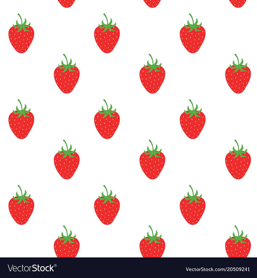 Strawberry pattern background fruit