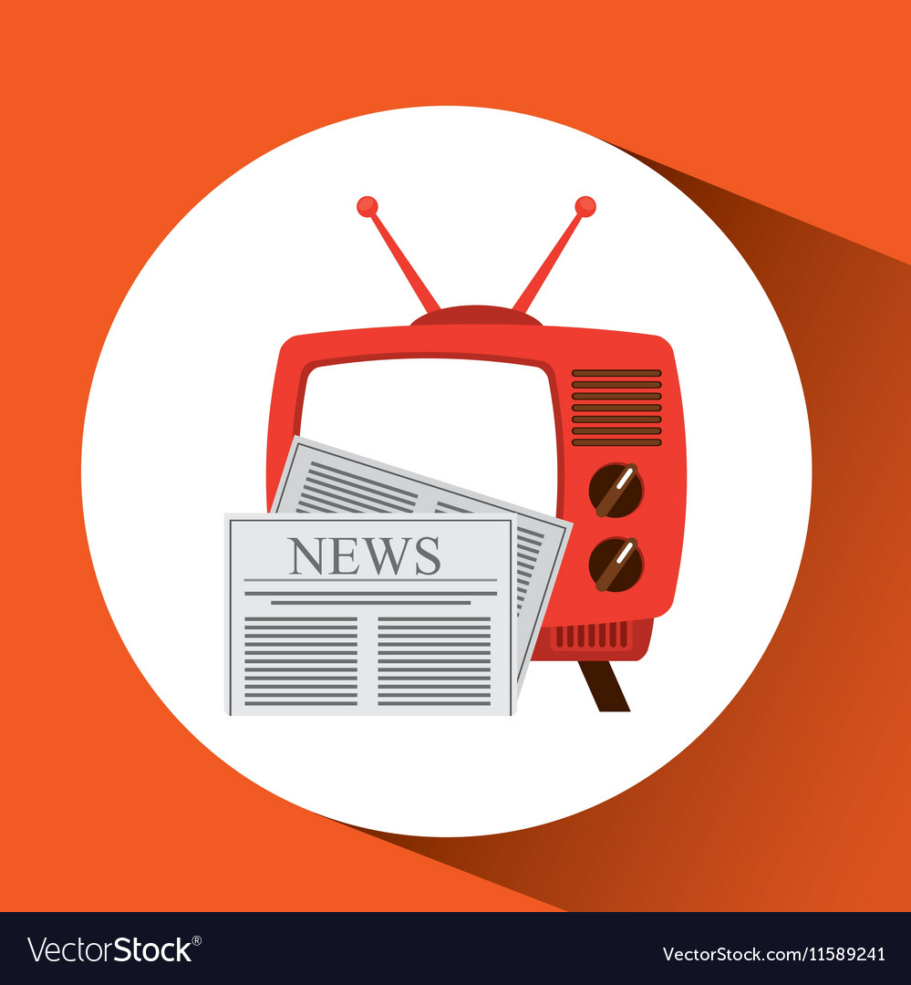 Tv radio vintage news concept