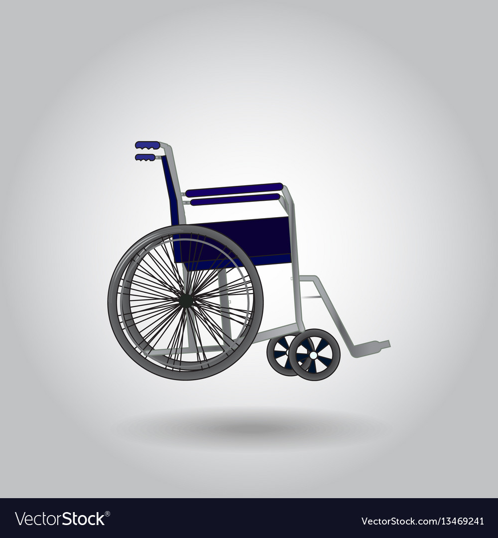 Wheelchair on grey background