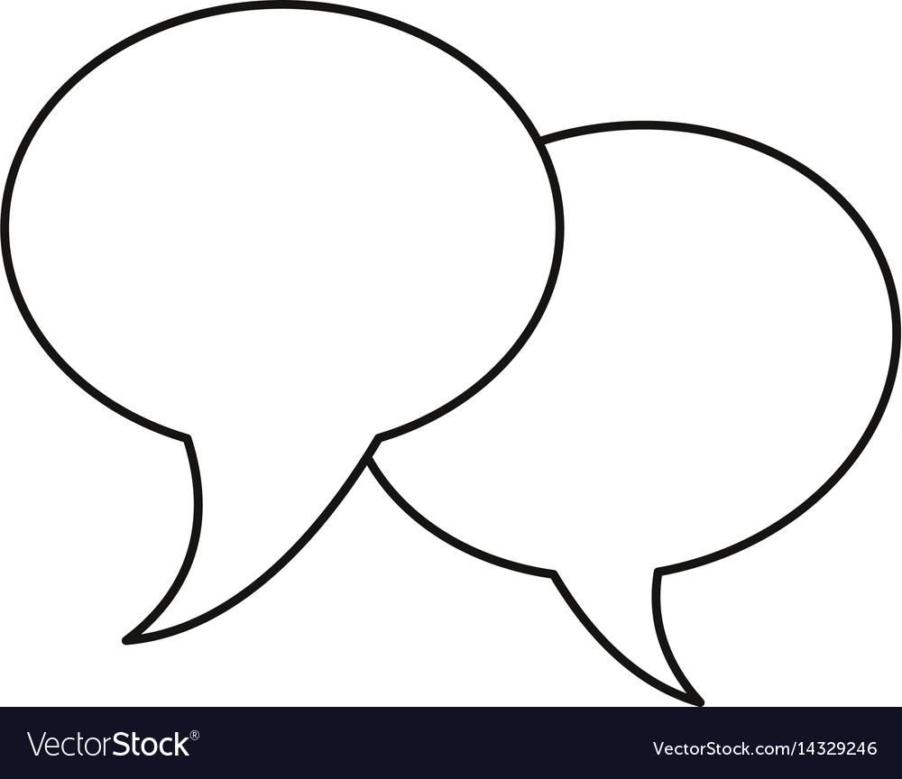 Bubble speech communication dialog thin line