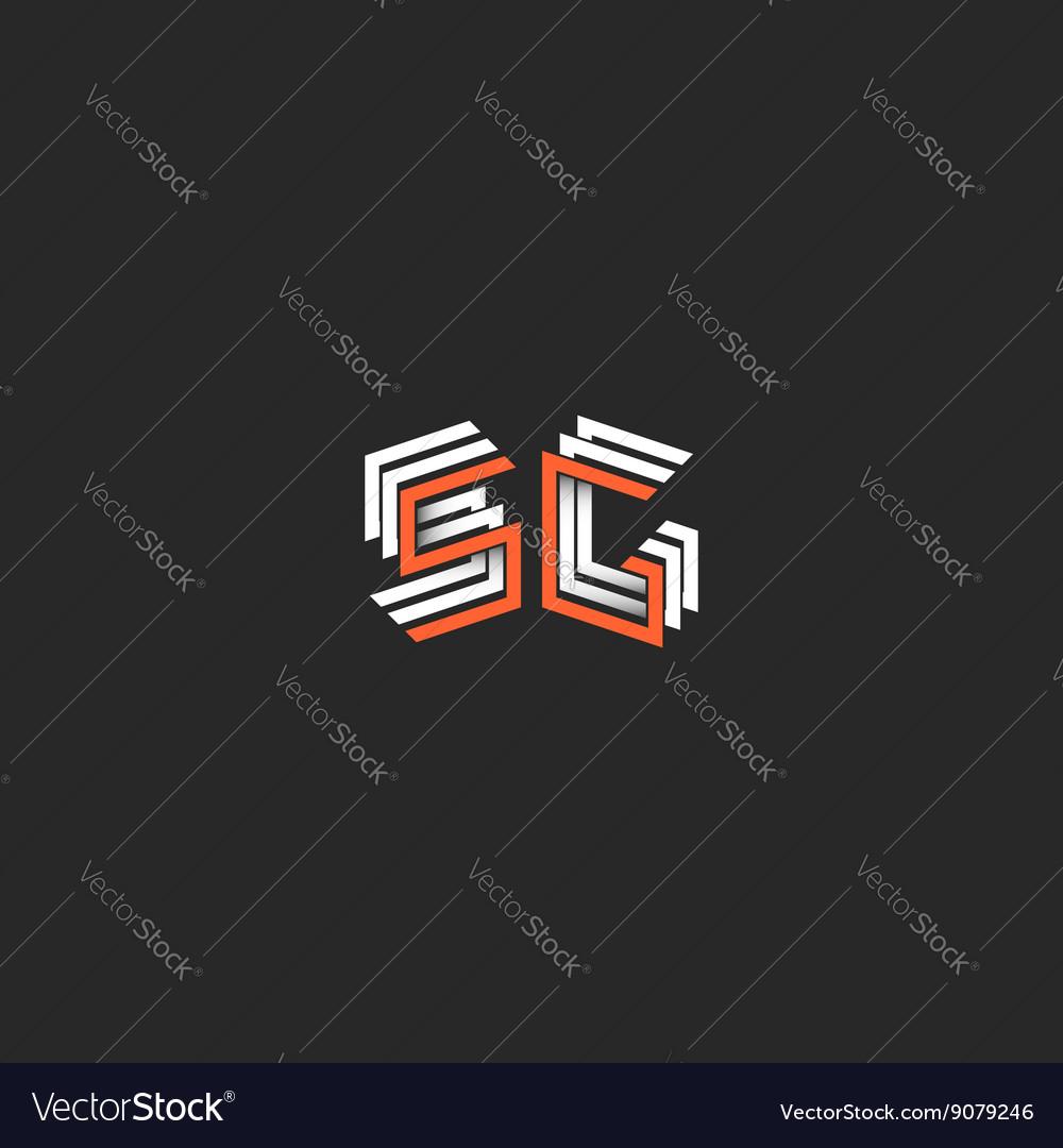 Fifth Generation Mobile Networks 5g Logo Monogram Vector Image