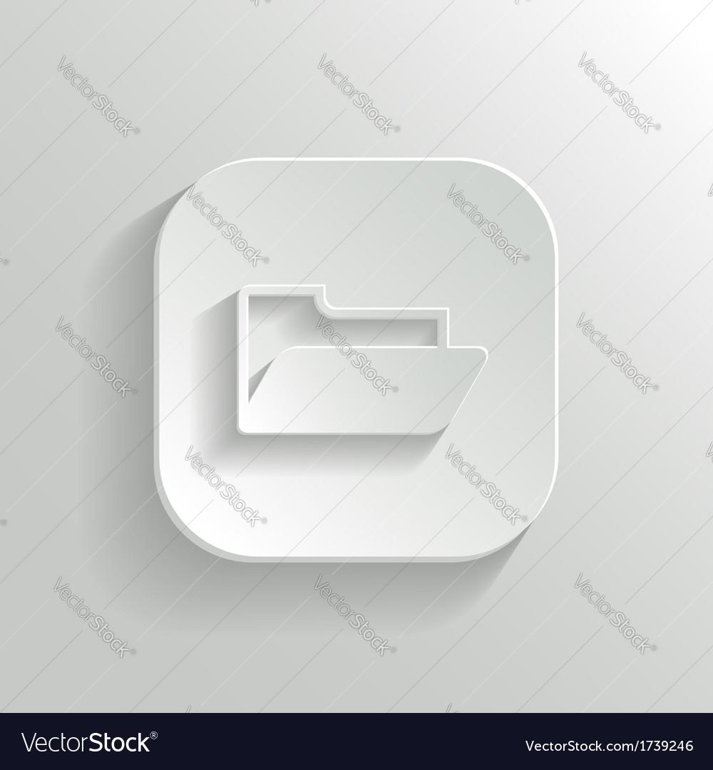 Folder icon - white app button