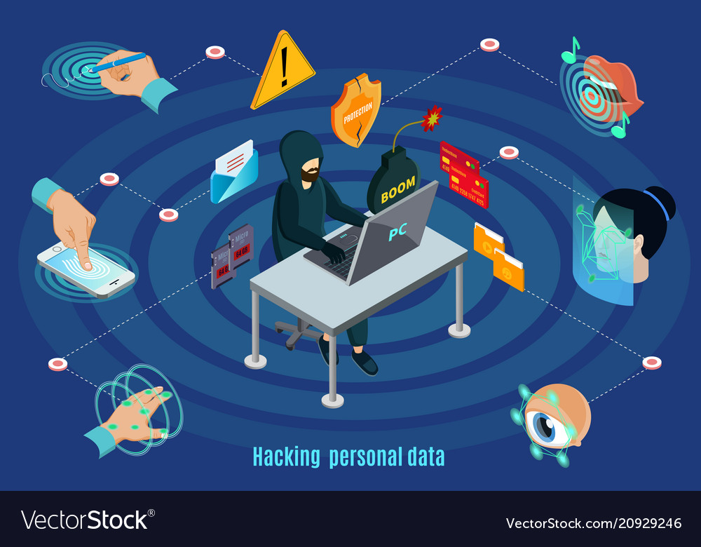 Isometric biometric hacking protection concept
