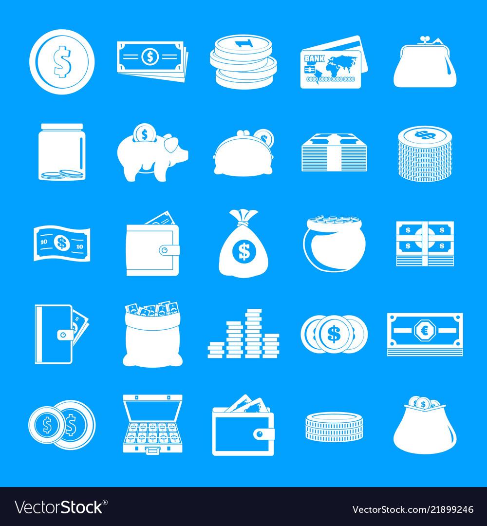 Money icons set simple style