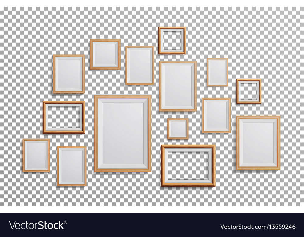 Realistic photo frame set square a3 a4