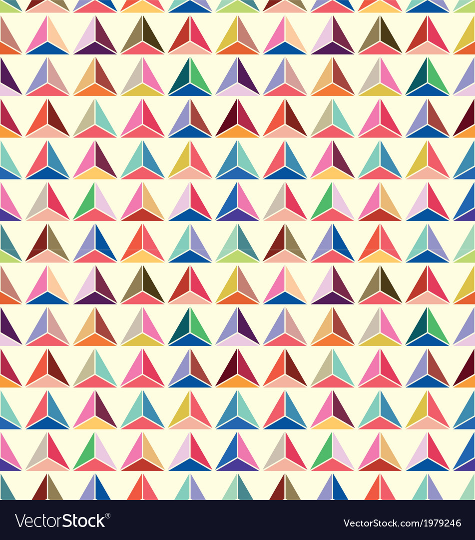 Seamless of pastel triangle background vector image