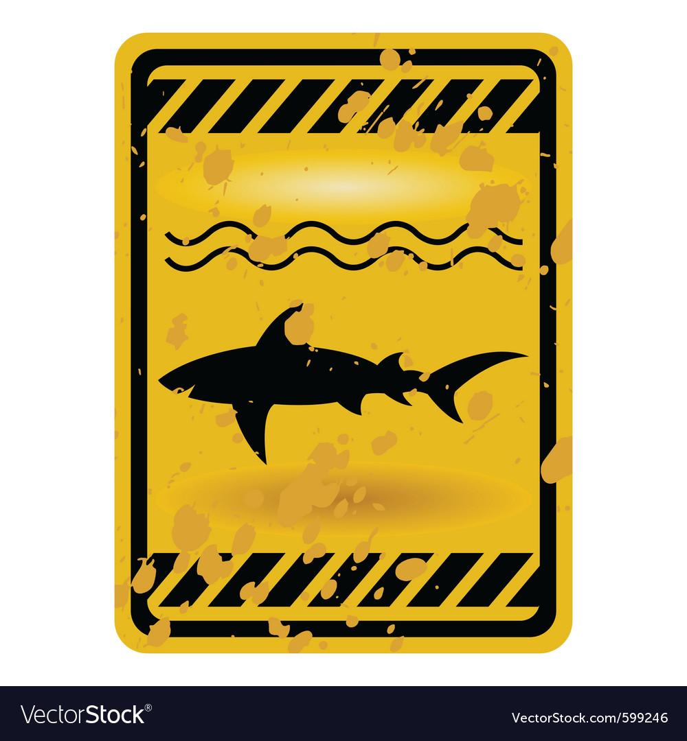 Shark attack warning sign