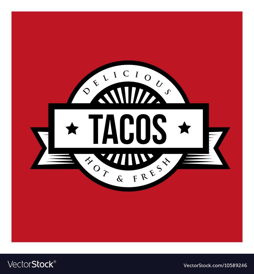 Tacos Vintage stamp