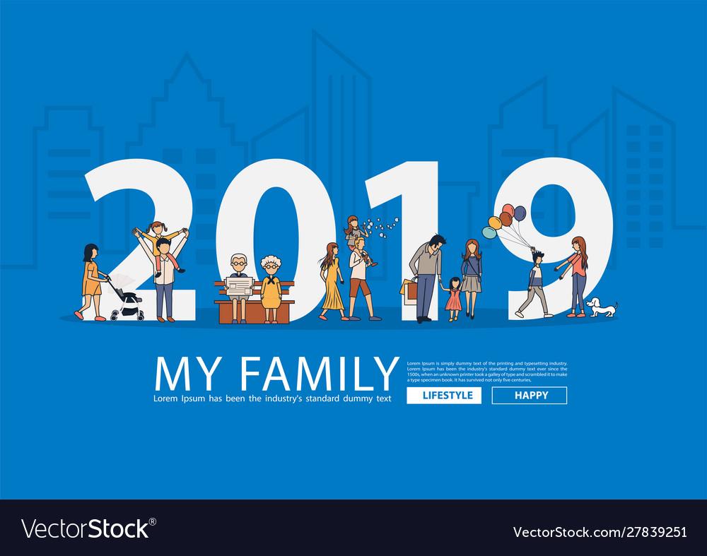 2019 new year happy family having fun life style