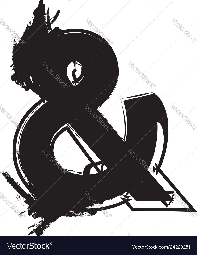 Abstract ampersand symbol
