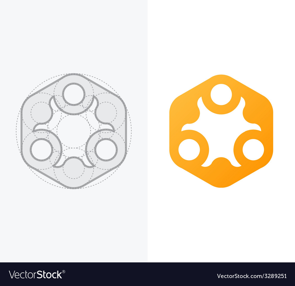 Abstract icon for company with process