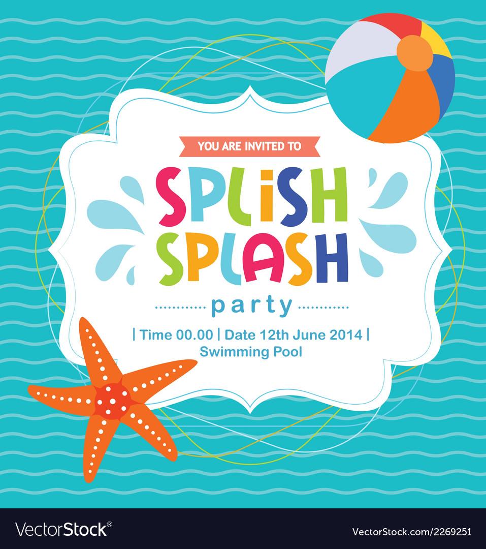 Birthday card invitation summer fun splash pattern birthday card invitation summer fun splash pattern vector image stopboris Gallery