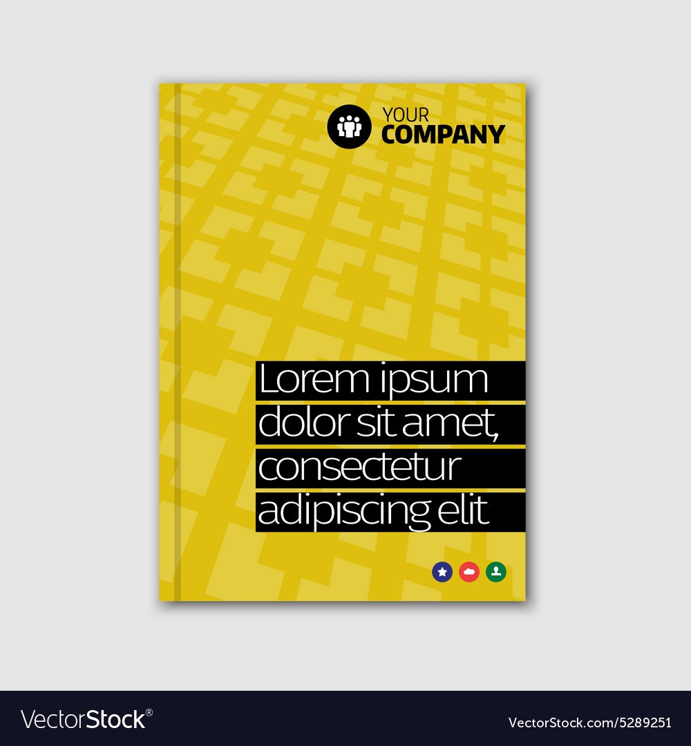 Brochure cover design template in A4 size