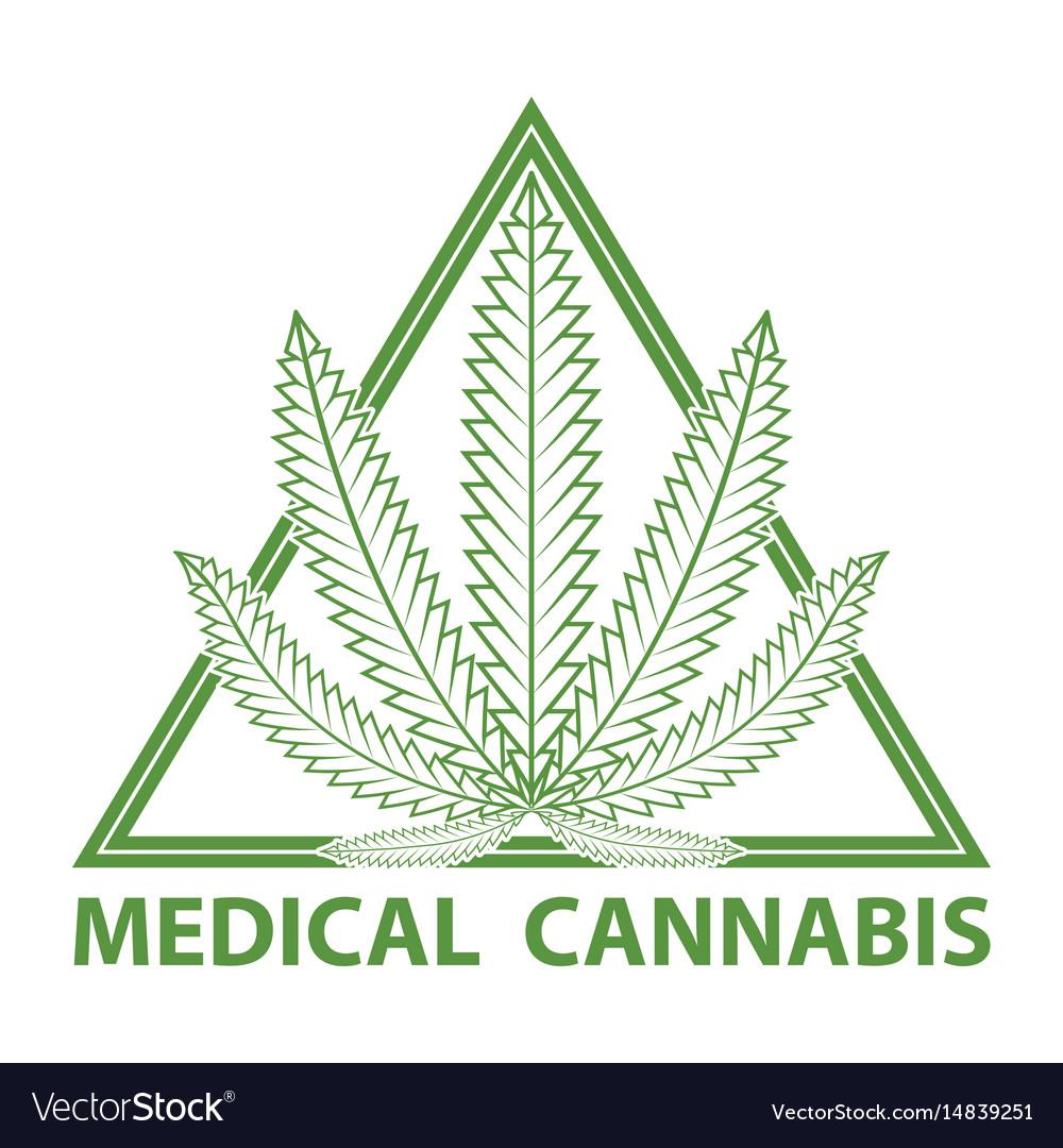 Medical cannabis marijuana logo