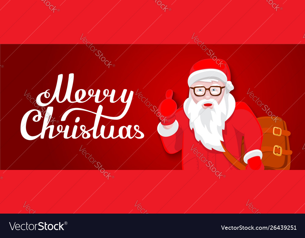 Modern santa claus cool funny style character