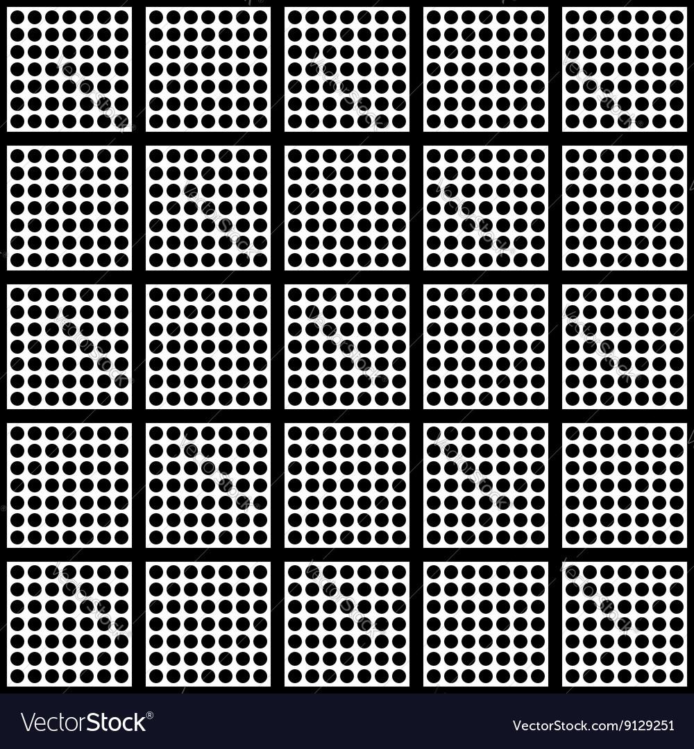 Polka dots and square seamless pattern vector image