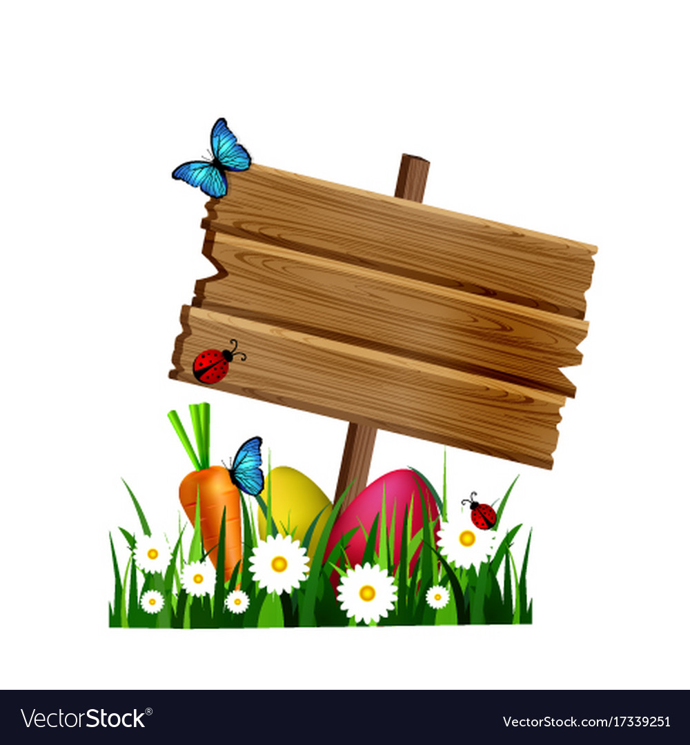Wooden board on a loan vector image