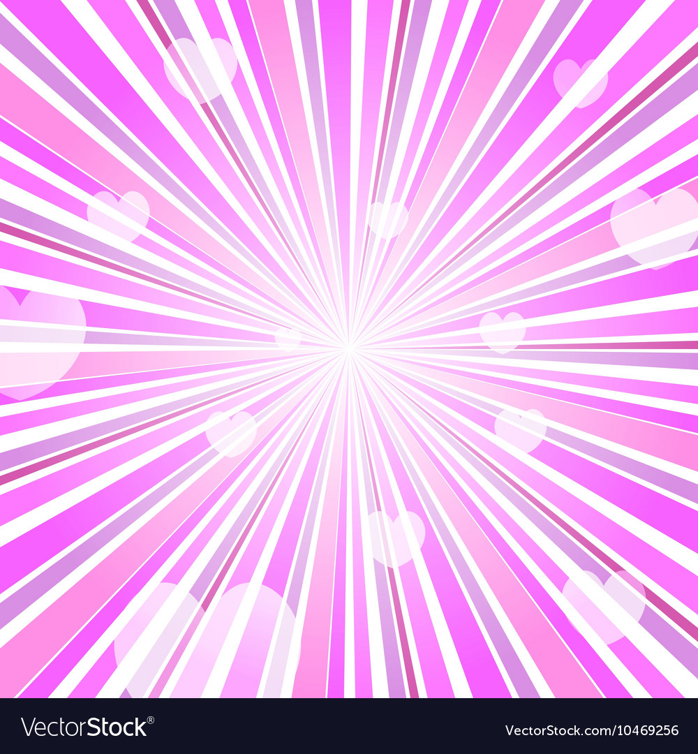 Abstract Love Heart Burst Ray Background Pink