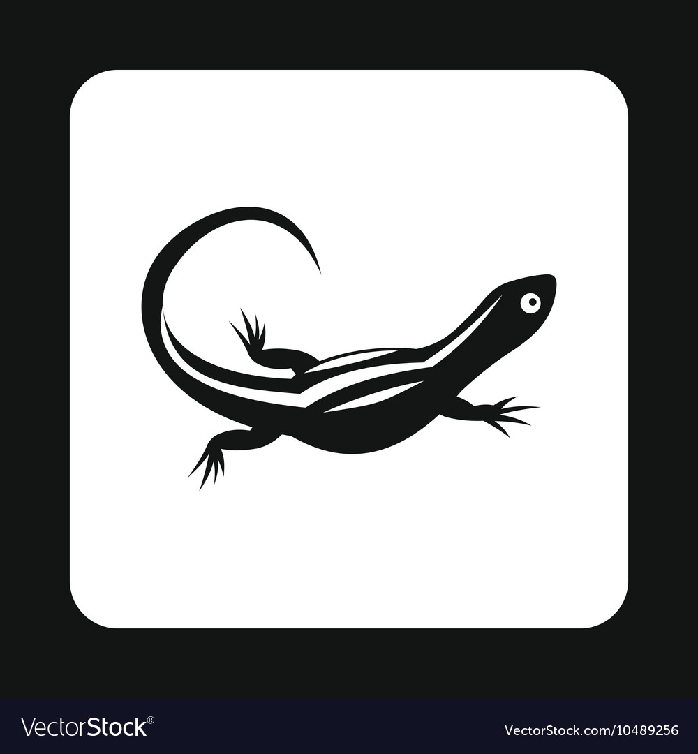 d7f4d72895f99 Carnivorous lizard icon simple style Royalty Free Vector