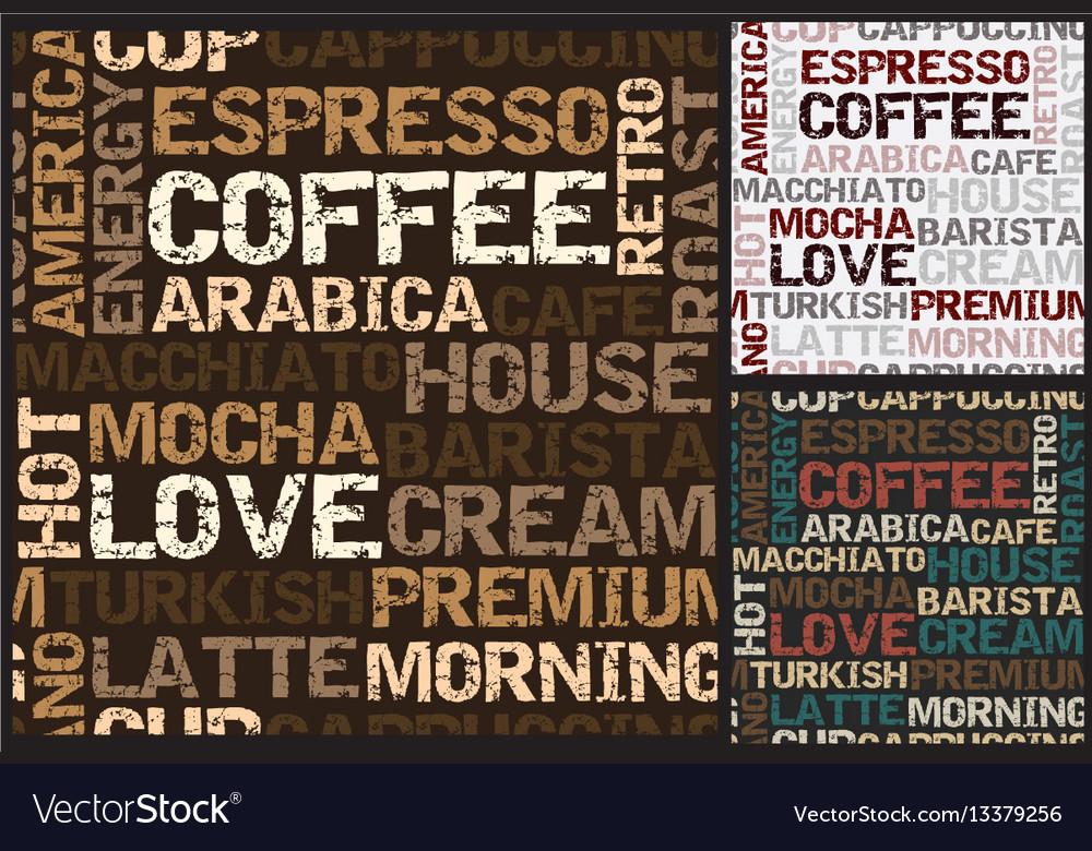 Coffee pattern closeup