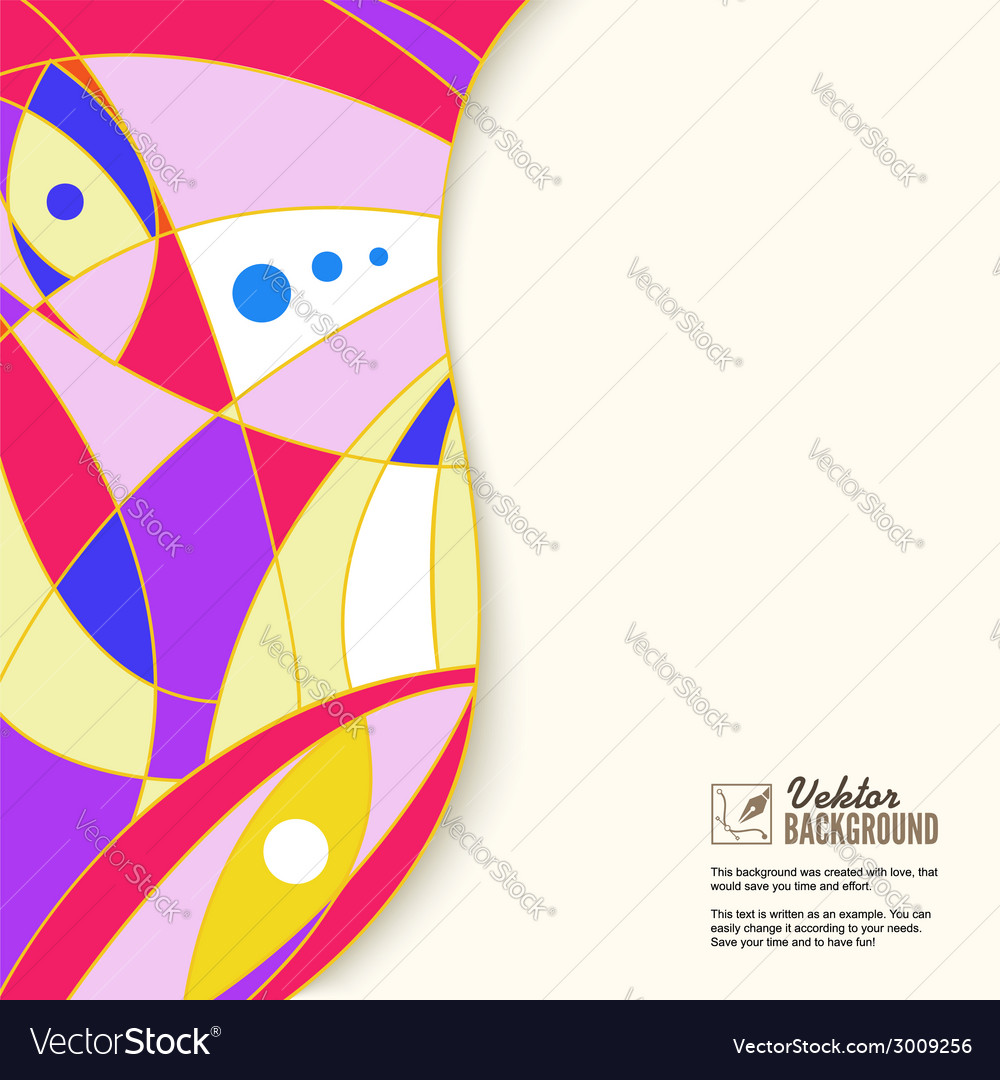 Colorful abstract geometric background with place
