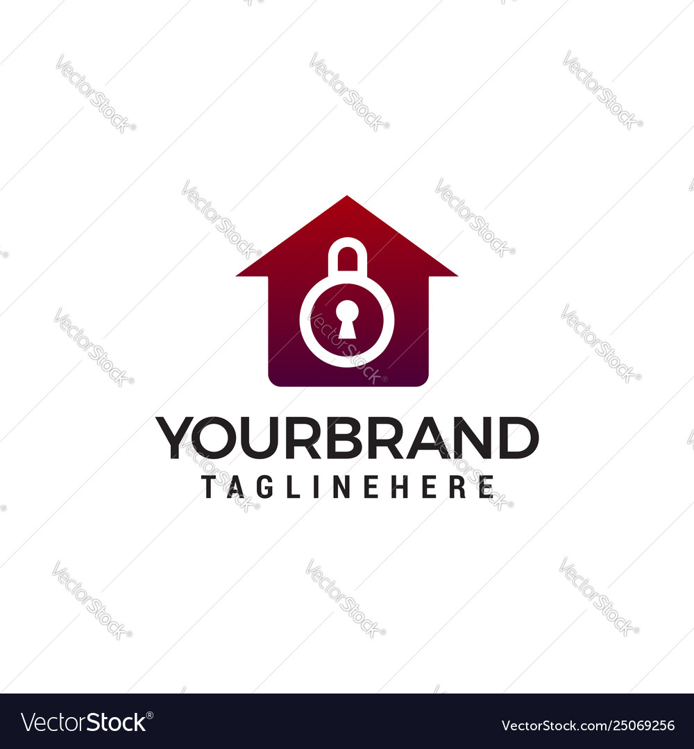 House security logo design concept template