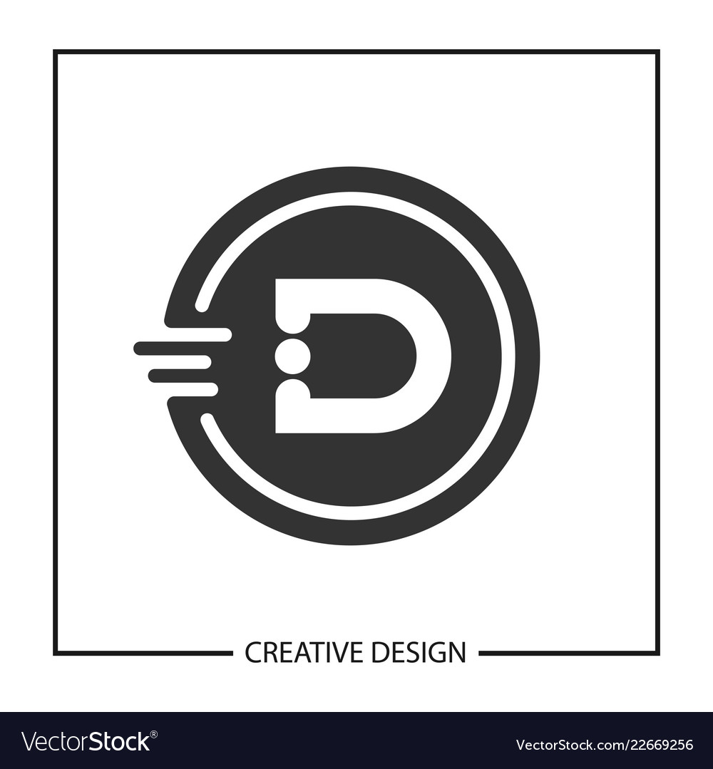 Initial Letter D Logo Template Design Royalty Free Vector