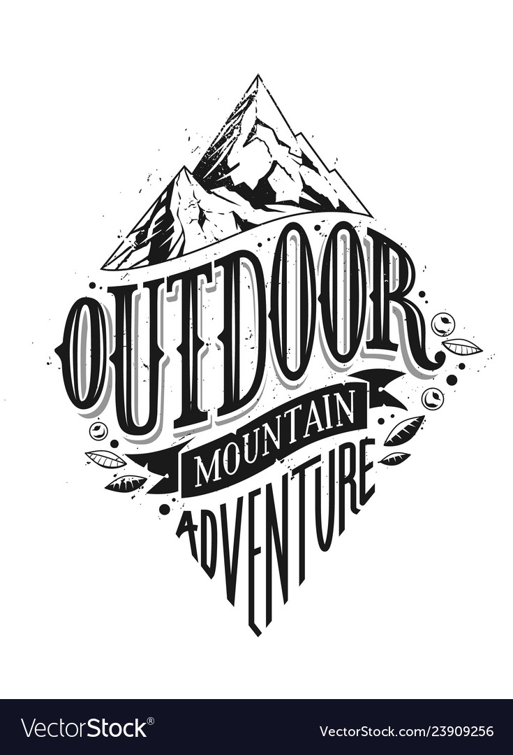 Outdoor hand drawn lettering