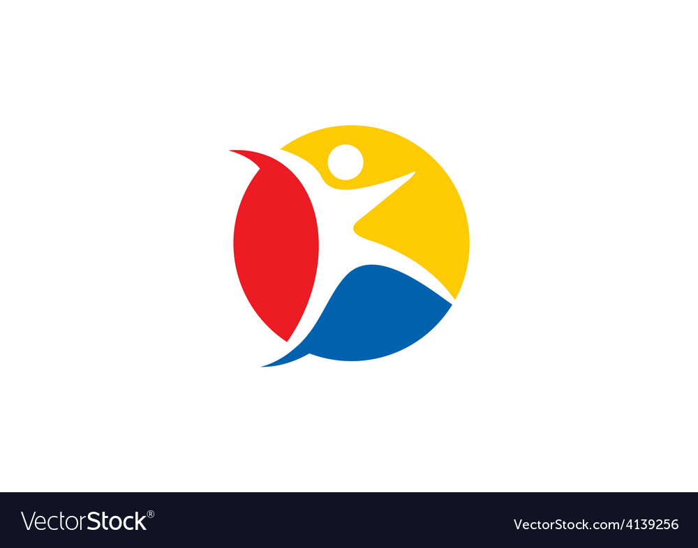 Sport icon people fitness logo...