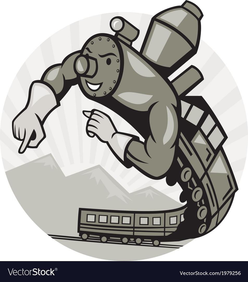 Super Steam Train Locomotive Man