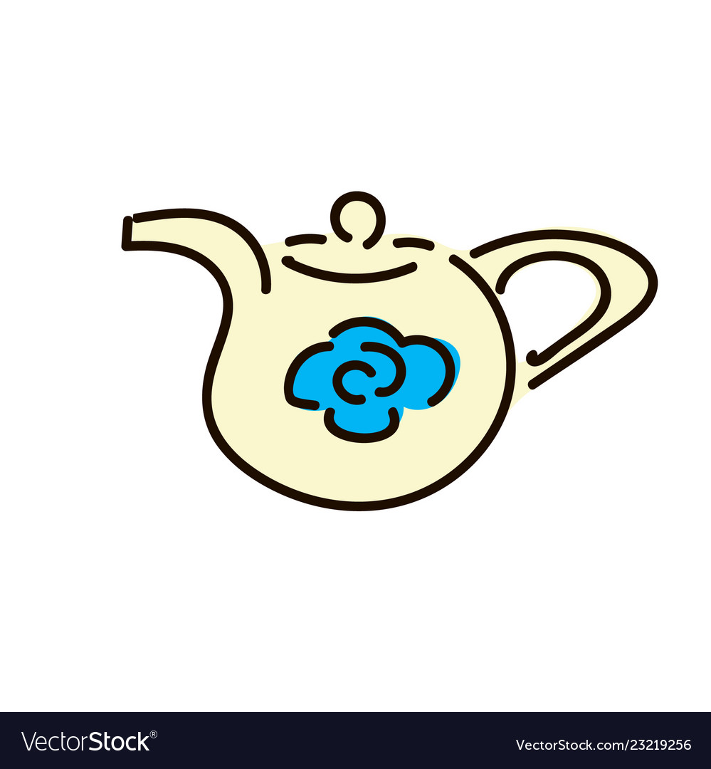 Teapot pictogram an style is