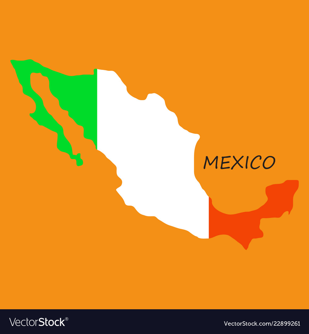 3d flag map of mexico