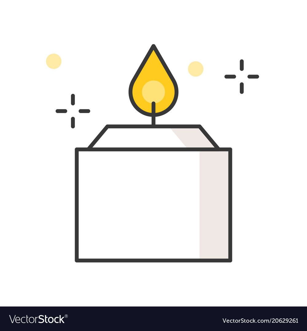 Aroma candle filled outline icon