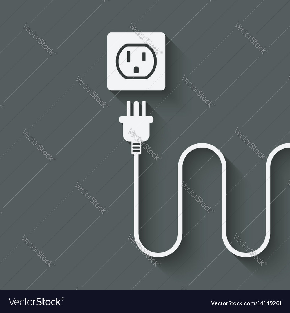 Electric Wire With Plug Near Outlet Royalty Free Vector Wiring A Image