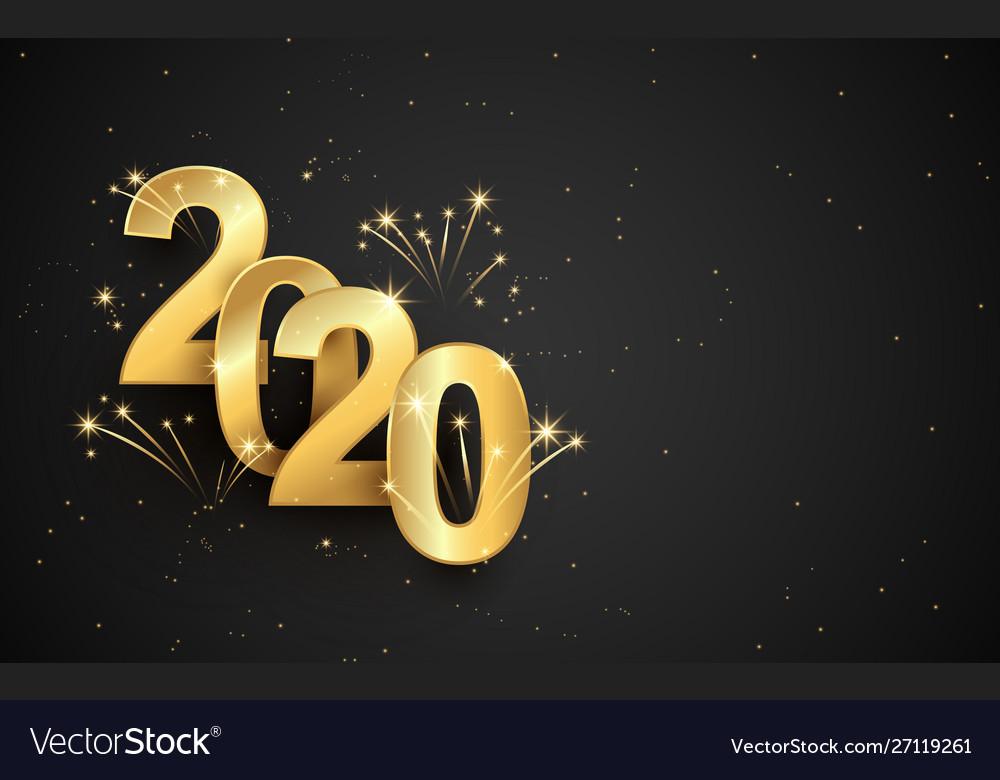 Golden sparkling luxury text 2020