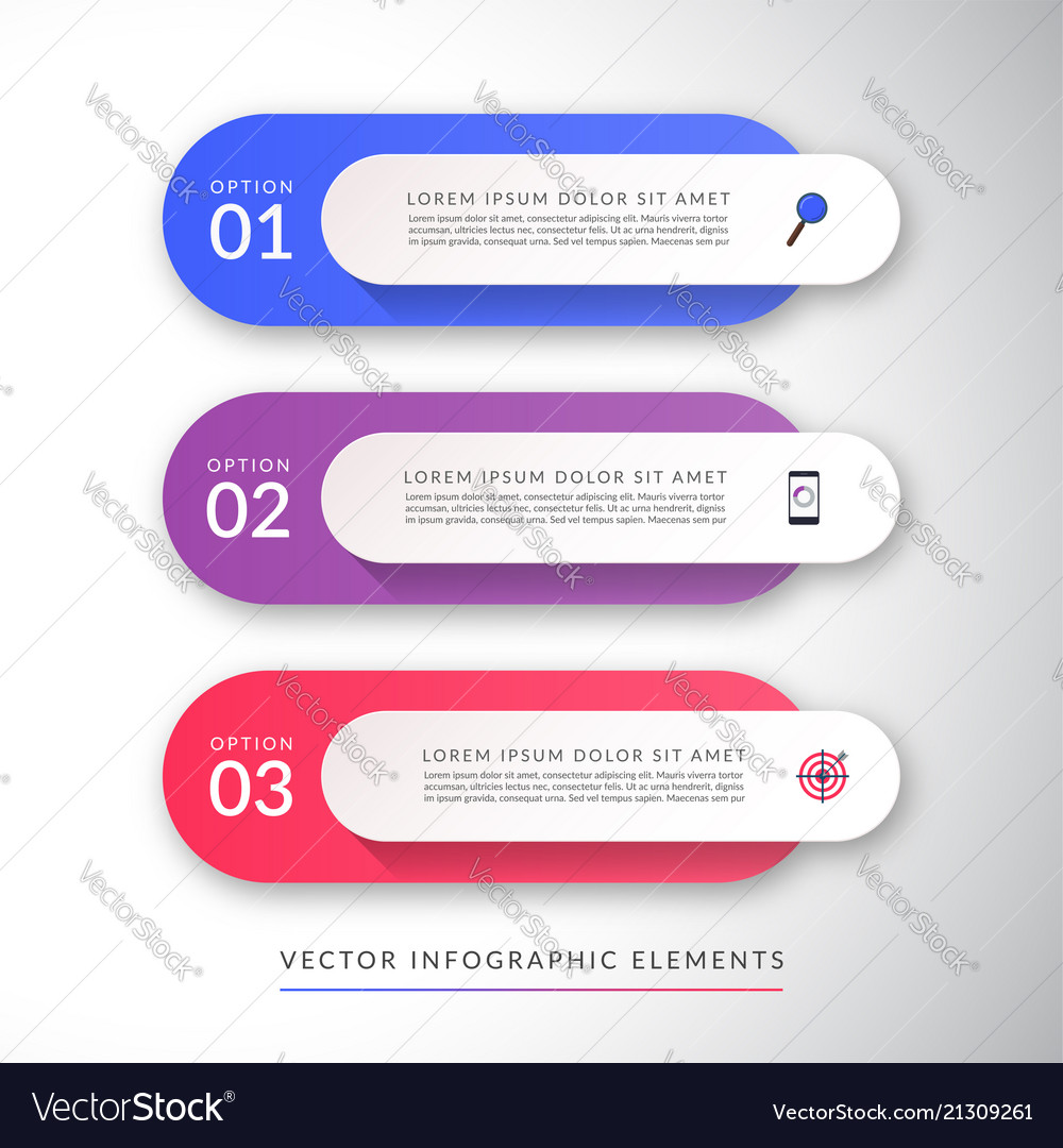 Infographic concept with 3 options