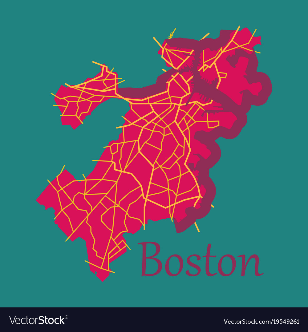 Map, City & Boston Vector Images (67) City Map Of Boston on