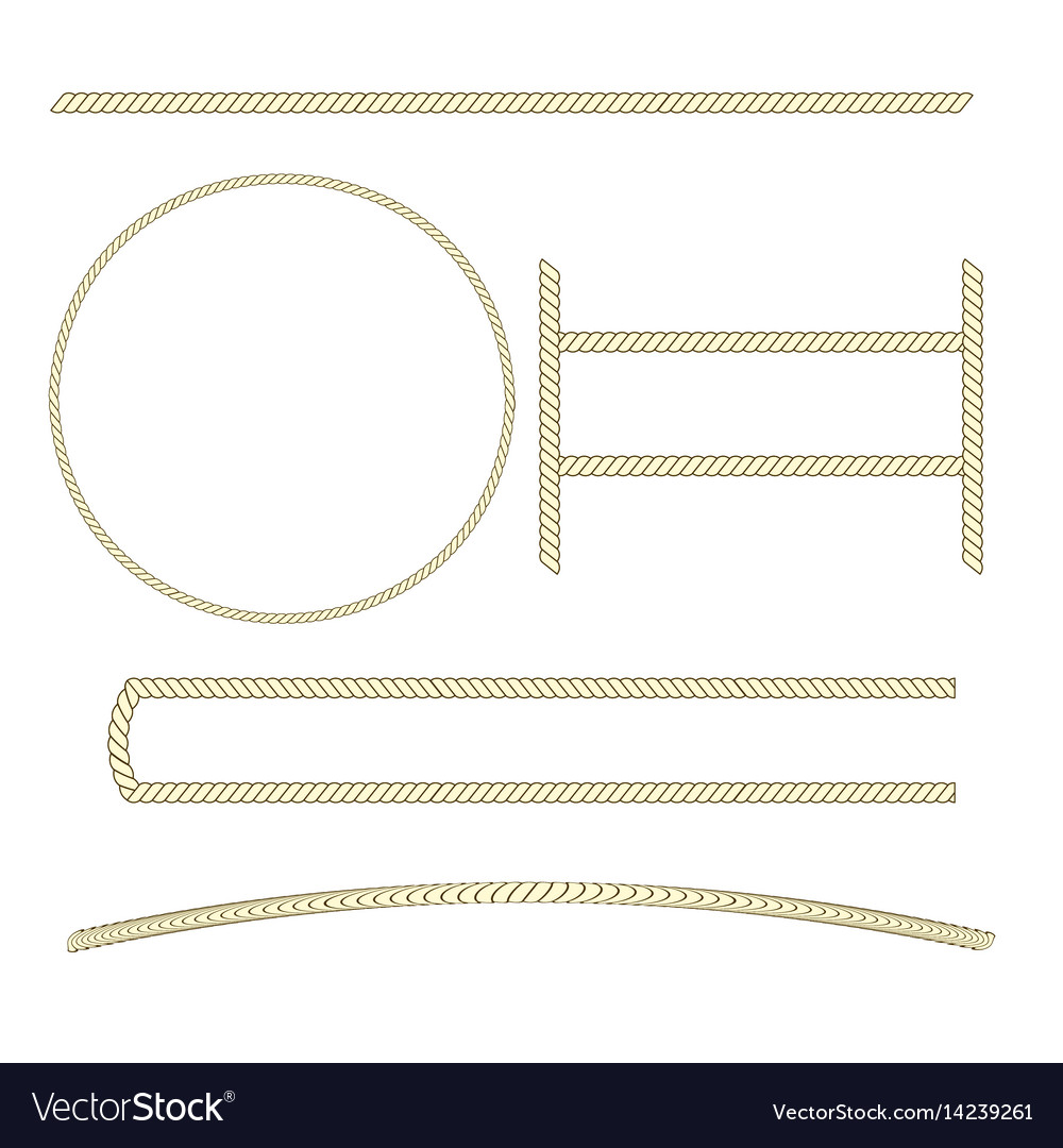 Rope sign set vector image
