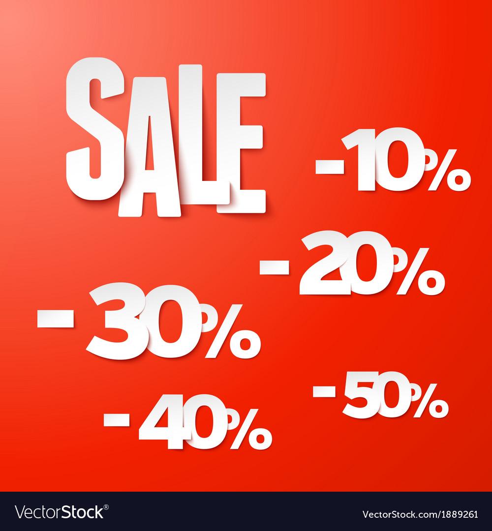 Sale percents paper set