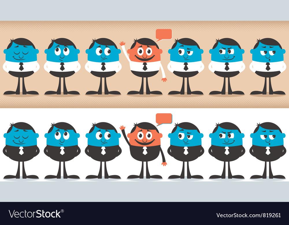 Volunteer characters vector image
