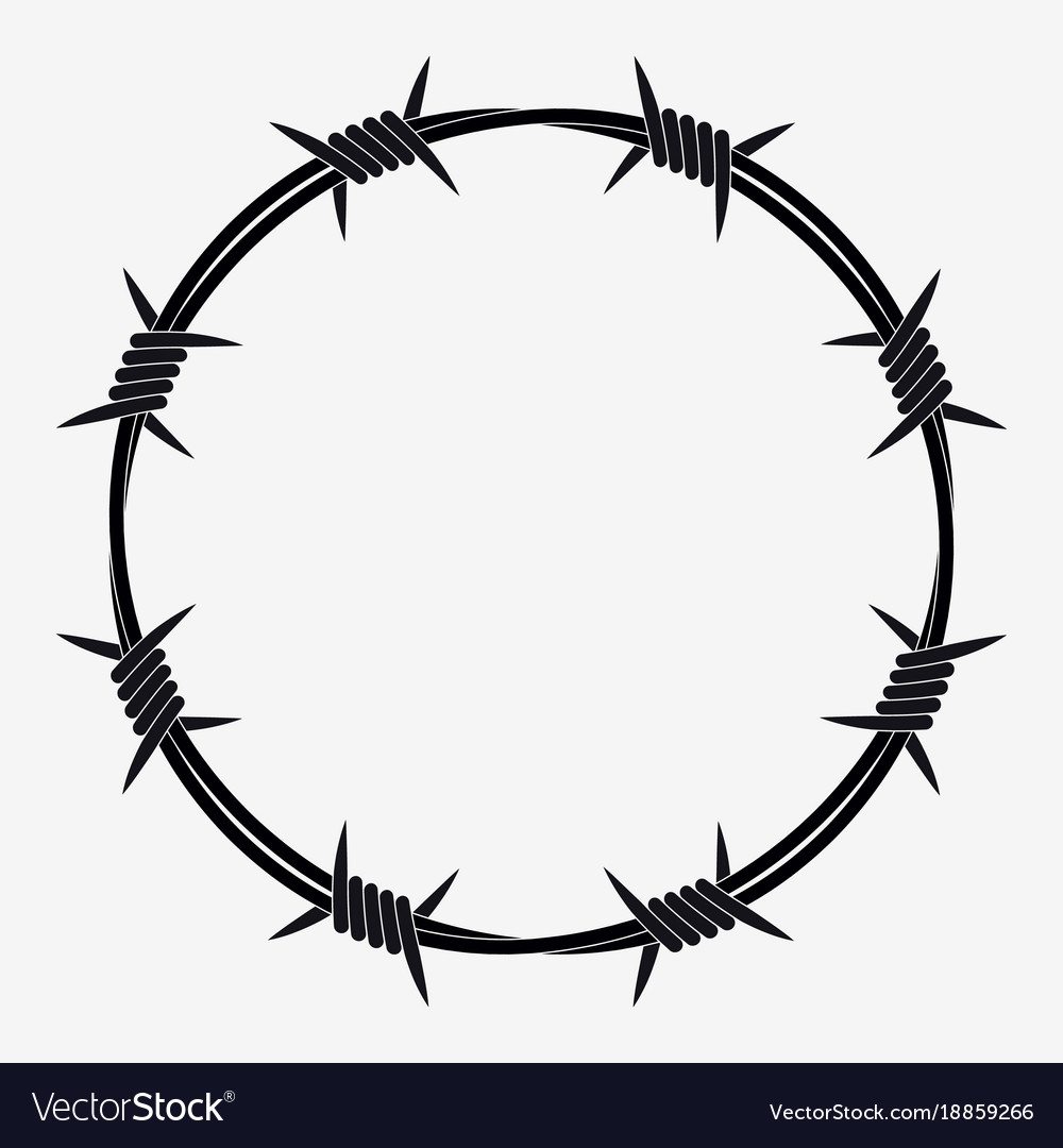Barbed wire of circle shape royalty free vector image