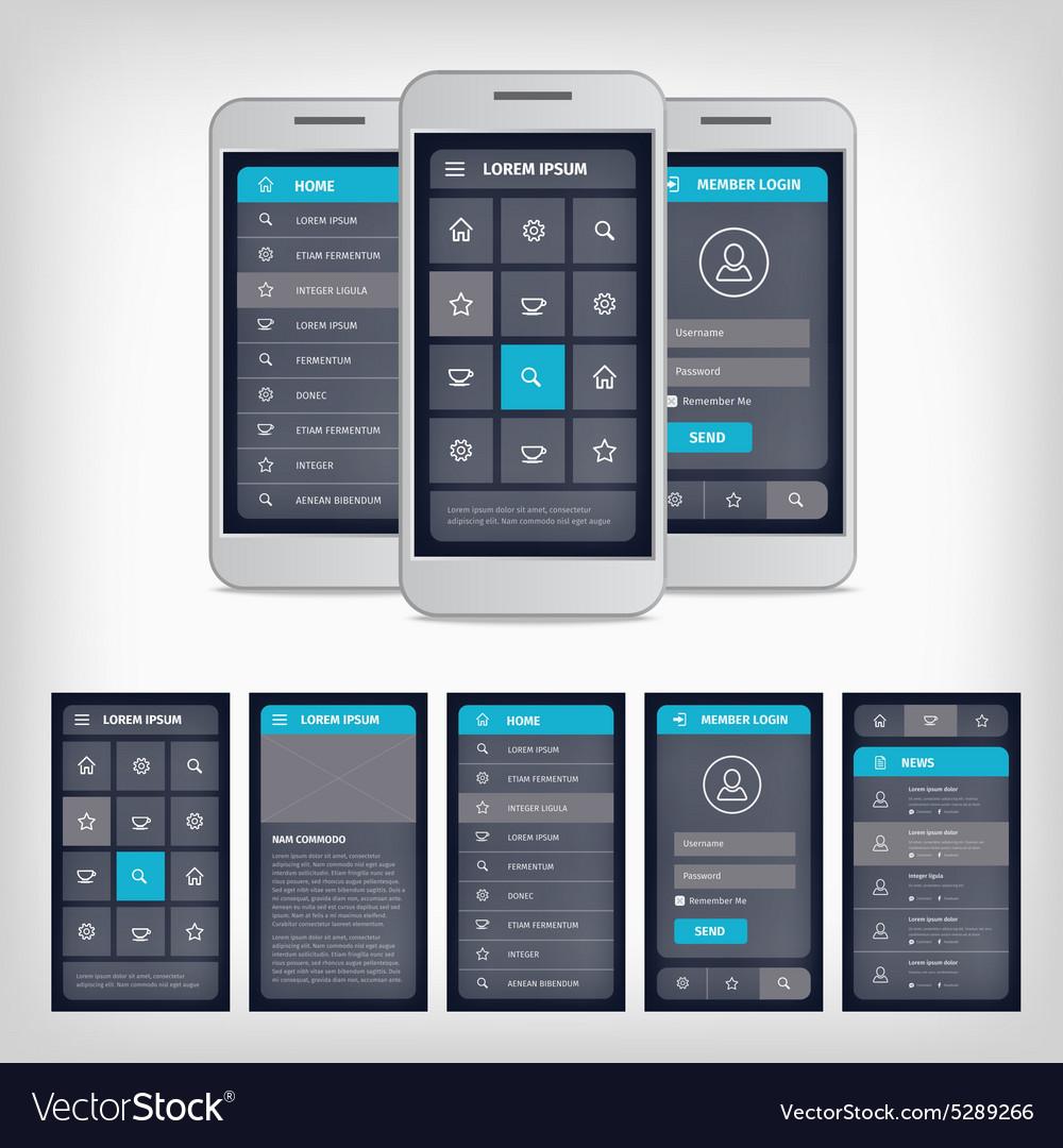 Blue mobile user interface